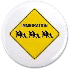 "Immigration Crossing 3.5"" Button"