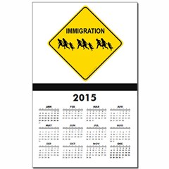 Immigration Crossing Calendar Print