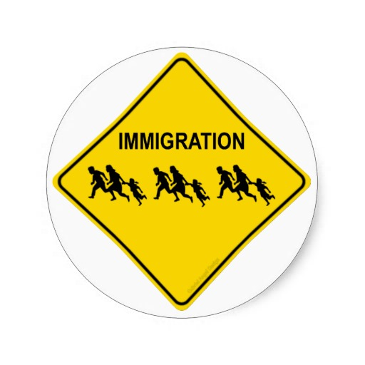 Immigration Crossing Classic Round Sticker