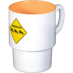 Immigration Crossing Coffee Cups