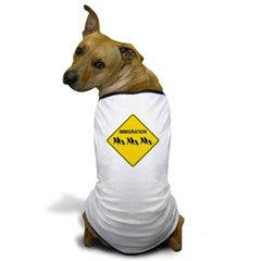 Immigration Crossing Dog T-Shirt