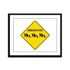 Immigration Crossing Framed Panel Print