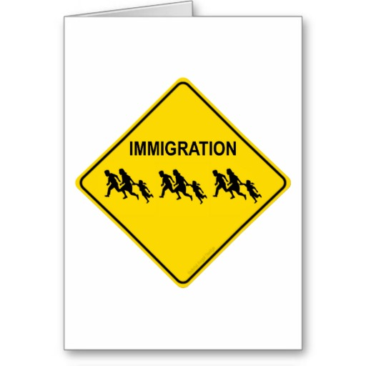Immigration Crossing Greeting Card