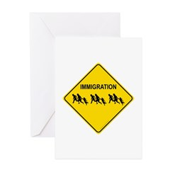 Immigration Crossing Greeting Cards (Pk of 10)