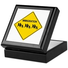 Immigration Crossing Keepsake Box