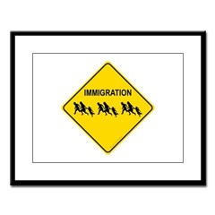 Immigration Crossing Large Framed Print