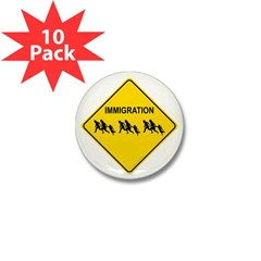 Immigration Crossing Mini Button (10 pack)