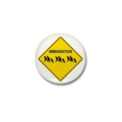 Immigration Crossing Mini Button