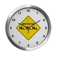 Immigration Crossing Modern Wall Clock