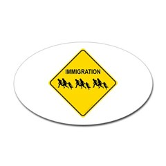 Immigration Crossing Oval Decal