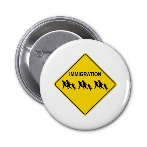 Immigration Crossing Pinback Buttons