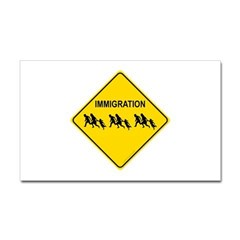 Immigration Crossing Rectangle Decal