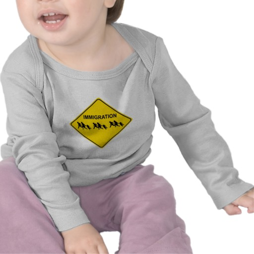 Immigration Crossing Road Sign Infant Bella Long Sleeve T-Shirt