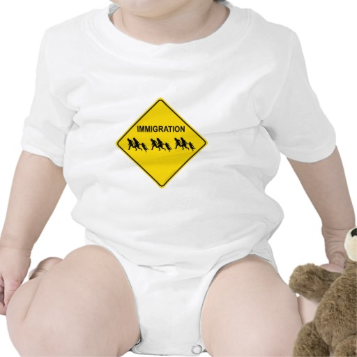 Immigration Crossing Road Sign Infant Creeper