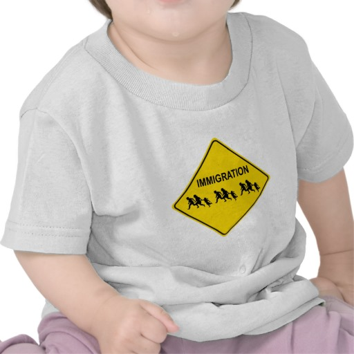 Immigration Crossing Road Sign Infant T-Shirt
