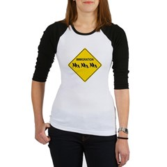 Immigration Crossing Road Sign Junior Raglan T-shirt