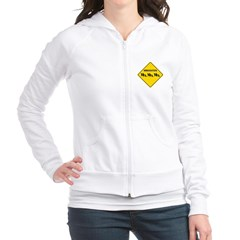 Immigration Crossing Road Sign Junior Zip Hoodie
