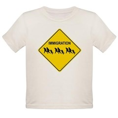 Immigration Crossing Road Sign Organic Toddler T-Shirt