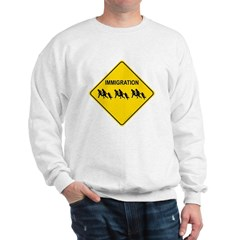 Immigration Crossing Road Sign Sweatshirt