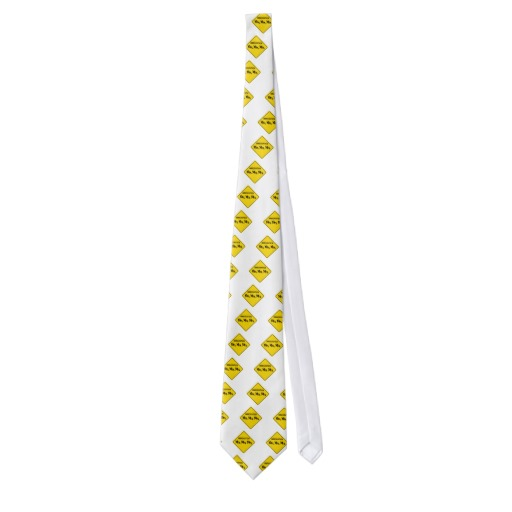 Immigration Crossing Road Sign Tie