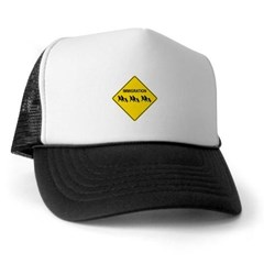 Immigration Crossing Road Sign Trucker Hat