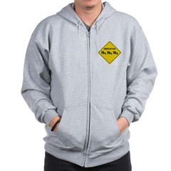 Immigration Crossing Road Sign Zip Hoodie