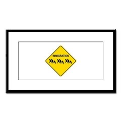 Immigration Crossing Small Framed Print
