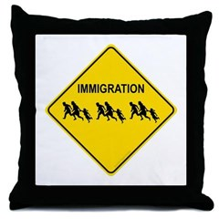 Immigration Crossing Throw Pillow