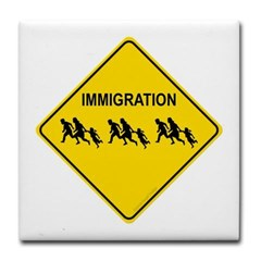Immigration Crossing Tile Coaster