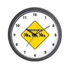 Immigration Crossing Wall Clock