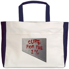 Cure for the 1 percent Beach Tote Bag