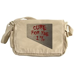 Cure for the 1 percent Canvas Messenger Bag