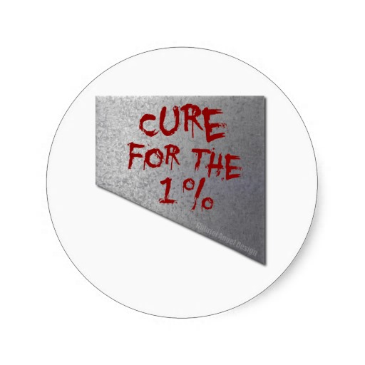 Cure for the 1 Percent Classic Round Sticker