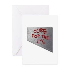 Cure for the 1 percent Greeting Cards (Pk of 20)