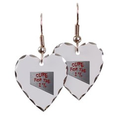 Cure for the 1 percent Heart Earrings