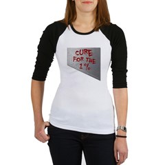 Cure for the 1 percent Junior Raglan T-shirt