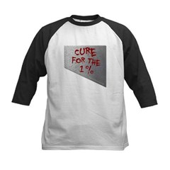 Cure for the 1 percent Kids Baseball Jersey T-Shirt