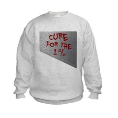 Cure for the 1 percent Kids Crewneck Sweatshirt by Hanes