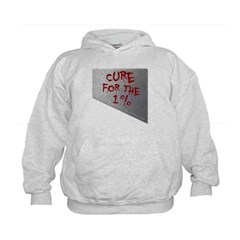 Cure for the 1 percent Kids Sweatshirt by Hanes