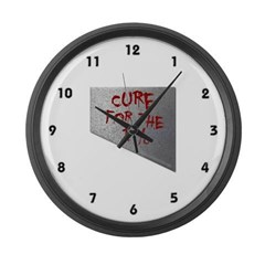 Cure for the 1 percent Large Wall Clock