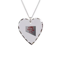 Cure for the 1 percent Necklace with Heart Pendant