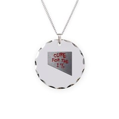 Cure for the 1 percent Necklace with Round Pendant