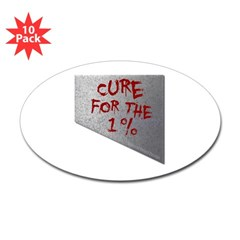 Cure for the 1 percent Oval Decal 10 Pack