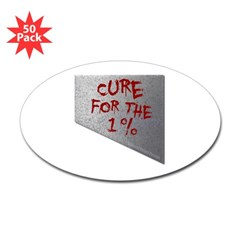 Cure for the 1 percent Oval Decal 50 Pack