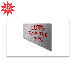 Cure for the 1 percent Rectangle Decal 50 Pack