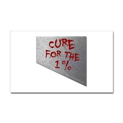 Cure for the 1 percent Rectangle Decal