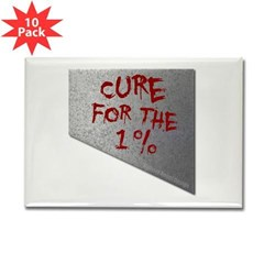 Cure for the 1 percent Rectangle Magnet (10 pack)