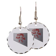 Cure for the 1 percent Round Earrings