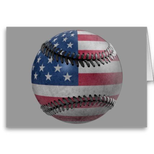 American Baseball Greeting Card