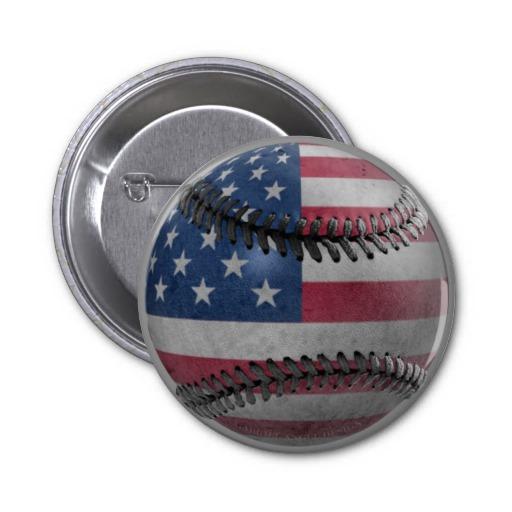 American Baseball Pin